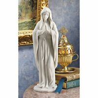 Virgin Mary Statue 11.5in Our Lady Holy Mother Religious Sculpture Patio Garden
