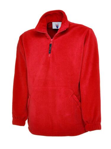 FULL EMBROIDERED COLOUR LOGO 1//4 Zip Polar Work Wear Embroidered Fleece Jacket