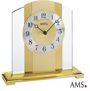 AMS-Horloge-de-table-38-quartz-elegante-bureau-Montre-Watch-pendulette