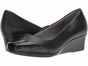 NWT TIME AND TRU BLACK WEDGES WEDGE SHOES SIZE 8 WOMANS  New Comfort