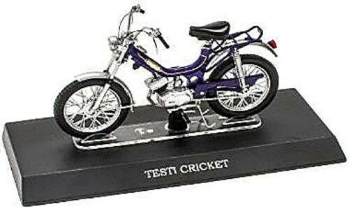 Testi cricket 50 cc 1978-79 ciclomotor ciclomotor ciclomotor azul Blue 1:18 Atlas