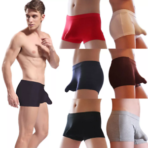 Men-Sexy-Bulge-Pouch-Underpants-Underwear-Box-Pants-UK-Seller