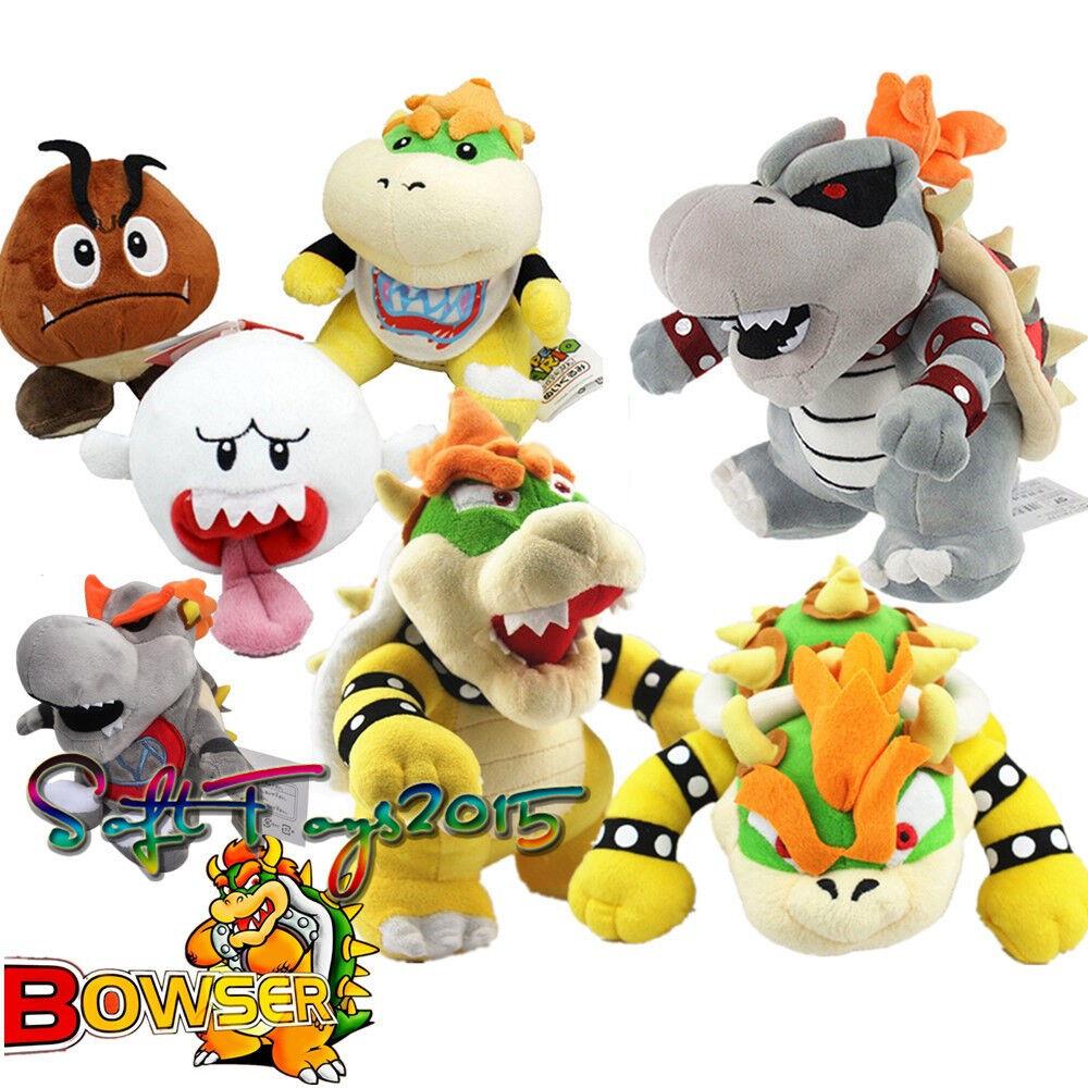 7X Super Mario Bros King Dry Bowser Koopa Jr. Koopa Soft Toy Plush Xmas Doll US