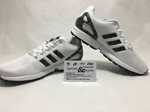 SCARPE N.38 2/3 Uk 5 1/2 ADIDAS ZX FLUX SNEAKERS BASSE ART CG3246