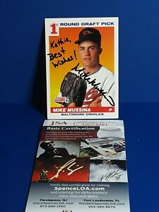 Mike Mussina AUTOGRAPHED 1991 SCORE RC BASEBALL CARD SIGNED ORIOLES JSA