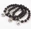 miniature 133 - Crystal Gemstone Bead Bracelet Chakra Natural Stone Reiki Healing Anxiety Stress