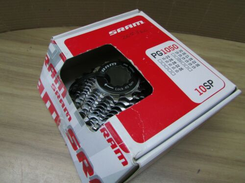 NOS SRAM PG1050 10 SPEED CASSETTE 12-27 with lockring.