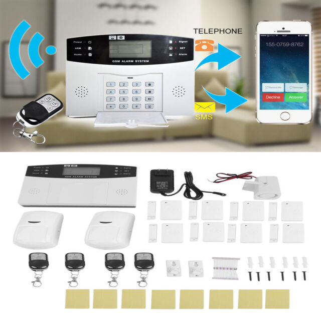Wireless LCD GSM SMS Burglar Fire Alarm System Auto Dialer Home Security  Safe TO