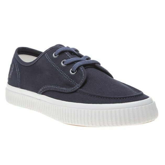 New MENS FRED PERRY NAVY blueE EALING CANVAS Sneakers PLIMSOLLS