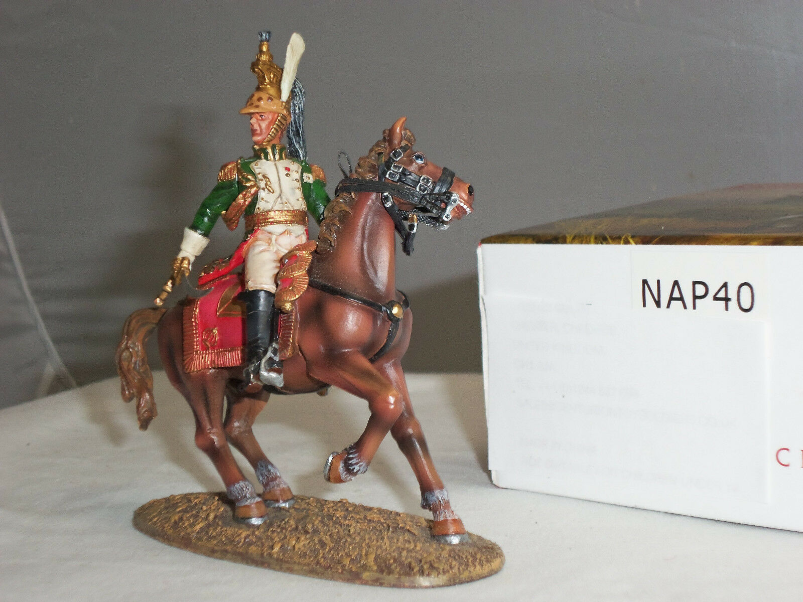 CENTURION NAP040 FRENCH IMPERIAL GUARD EMPRESS DRAGOONS COLONEL MOUNTED FIGURE