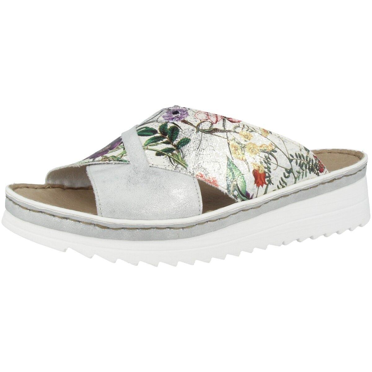 Rieker Crescent-Bouquet Chaussures Sandale Femmes Plateforme Mule Mocassins