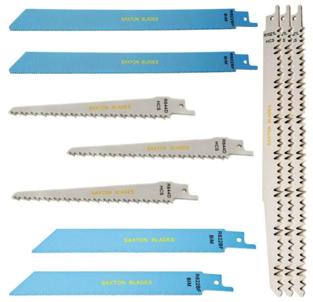 Saxton 10 Reciprocating Sabre Saw Blades Wood & Metal fits Bosch Makita Dewalt