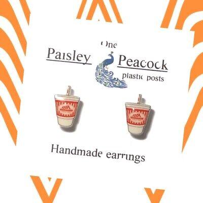 Central Perk Stud Earrings Plastic Post Handmade