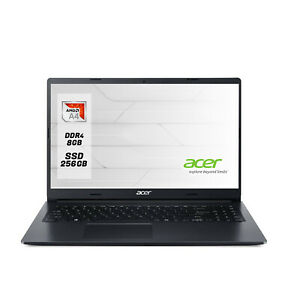 Notebook Acer Pc portatile AMD A4 3020E ,15.6,Ram 8Gb nvme 256 Gb,Windows 10 PRO