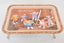 VTG Cabbage Patch Kids 80s Metal Tin Retro Lunch Lap Tray Tv Retro