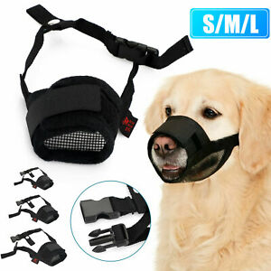 Pet-Dog-Adjustable-Bark-Bite-Mesh-Mouth-Muzzle-Cover-Grooming-Anti-Stop-Chewing