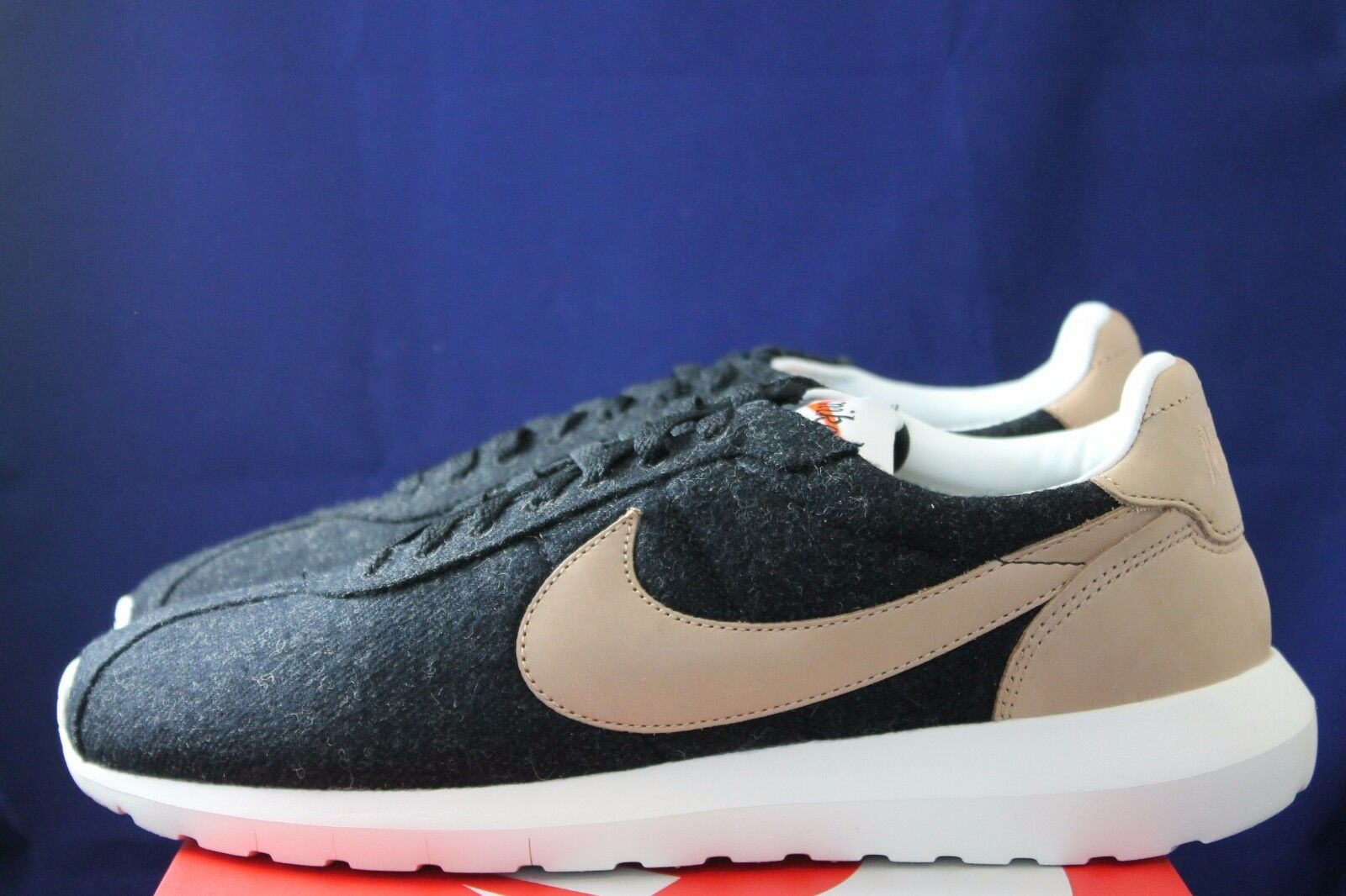 NIKE ROSHE LD - 1000 WOOL BLACK VACHETTA TAN LEATHER 844266 001 Price reduction