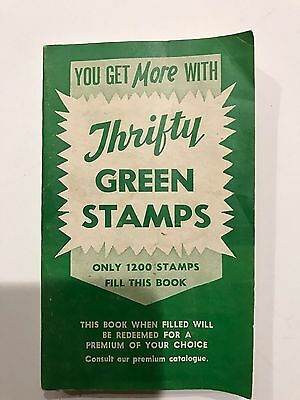 Vintage S/&H Green Stamps 1961 Sperry Hutchinson Book Filled with Stamps Nice!