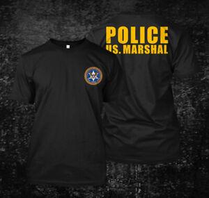 US-Marshal-Police-Custom-Men-039-s-T-Shirt-Tee