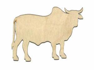 Brahman-Cow-Unfinished-Wood-Shape-Cut-Out-B11047-Crafts-Lindahl-Woodcrafts