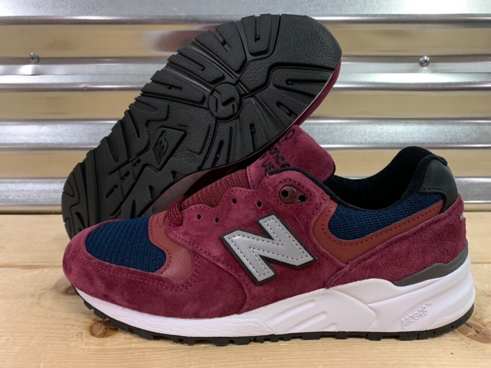 New Balance 999 Retro Suede shoes Burgundy Red Navy bluee USA SZ ( M999JTA )