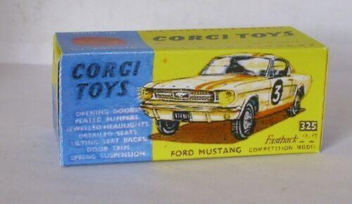 Repro Box Corgi Nr.325 Mustang Fastback Competition