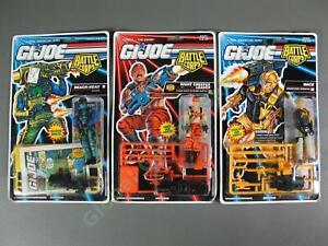 3 1992-93 GI Joe Battle Corps Mace Beach-Head Cobra Night Creeper Leader MOC Lot