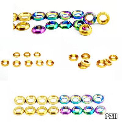 Details about  /TC4 titanium alloy Gaskets Road Shim Washers Convex//Concave Accessories