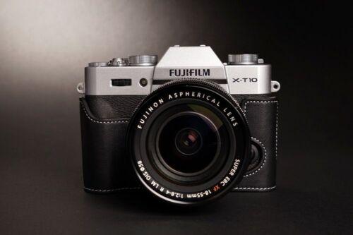 Estuche De Cuero Genuino Real Bolso Cubierta completa de la Cámara Para Fujifilm XT30 XT20 XT10