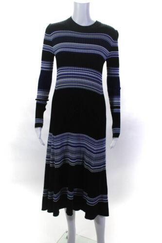 Proenza Schouler Womens Striped Ribbed Dress Size
