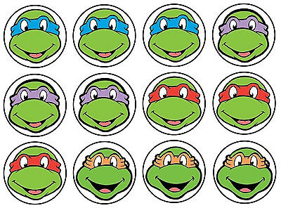"""5.5/""""-9/"""" Tmnt ninja turtles group wall safe sticker border cut out character"""