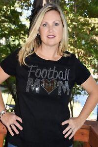 1a46de125 Football Mom Rhinestone bling shirt XS S M L XL XXL 1X 2X 3X 4X 5X ...