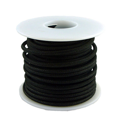 20 Gauge Stranded Cloth Wire 50 Feet Black
