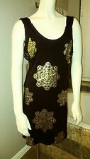 House Of Dereon Beyoncé Cutout Black & Gold Bodycon Bandage Dress Size Large
