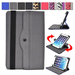 Universal-7-8-inch-Tablet-Slim-Sleeve-Folio-Case-Cover-amp-Rotating-Stand
