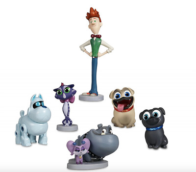 Bingo 12 Pcs//Set Puppy Dog Pals Toys Action Figures 1.6~3.2 Bob Hissy ARF and More Cake Topper Decorations Rolly