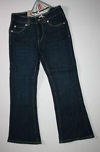 New-Levi-039-s-Stretch-Flare-Fit-Gemstone-Blue-Jeans-Size-6-Yr-NWT-Adjustable-Waist