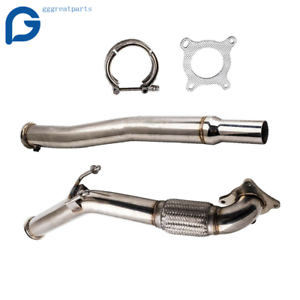 Stainless Steel Exhaust Decat Downpipe For 08-10 GTI Jetta 2.0/2.5L A3 1.4/1.8L