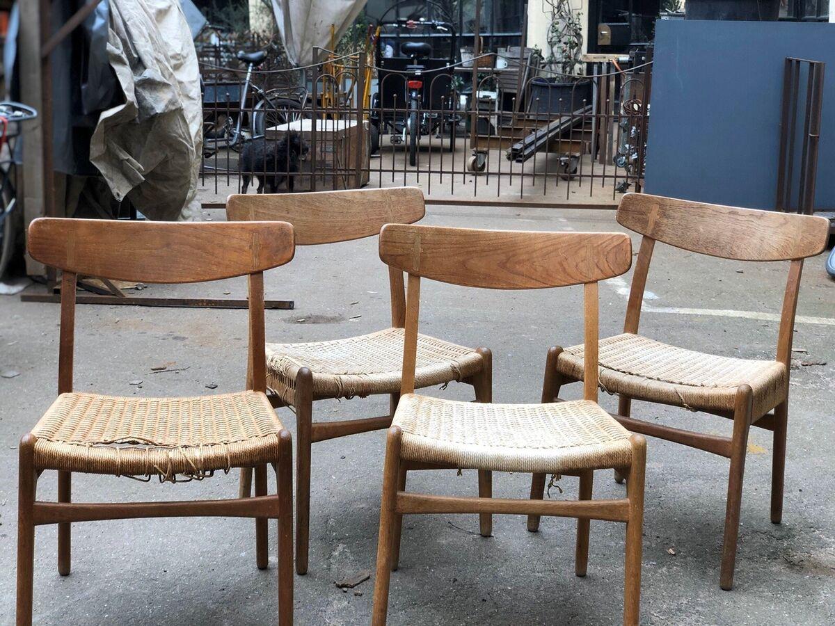 Hans J. Wegner, stol, CH23 Eg, 4 stk Originale CH 23 stol