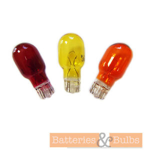5w 12v Outdoor Garden Replacement Colour Wedge Lamp Light Bulb Push Fit  eBay