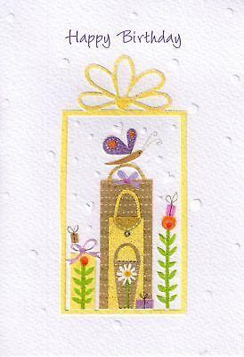 HANDCRAFTED GLITTER FEMALE BIRTHDAY CARDS PRETTY CARD