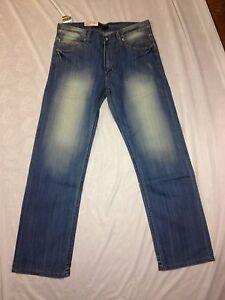 Herren-Jeans-Hose-W33-L34-hellblau-tolle-Waschung-von-CLP