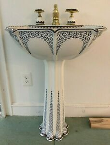 Kohler Anatole Pedestal Sink Russian Teacup Design Artist Edition Ebay