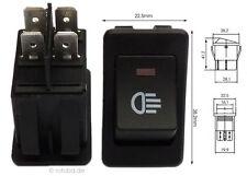 Beleucht. Wippschalter 12V 38x23mm EIN-AUS Auto Licht Schalter Lichtschalter #40