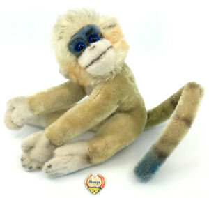 Steiff-Mungo-Monkey-Mohair-Plush-17cm-7in-ID-Chest-Tag-1960s-Colorful-Vintage