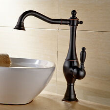 "13"" Oil Rubbed Bronze Bathroom Sink Faucet Vessel Lavatory One Hole/Handle Tap"