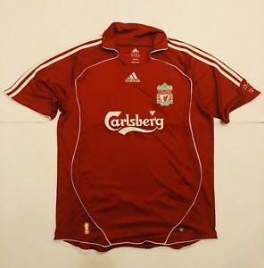 Adidas-Liverpool-Reds-Maglia-Calcio-Vintage-Inghilterra-Taglia-L-Calsberg
