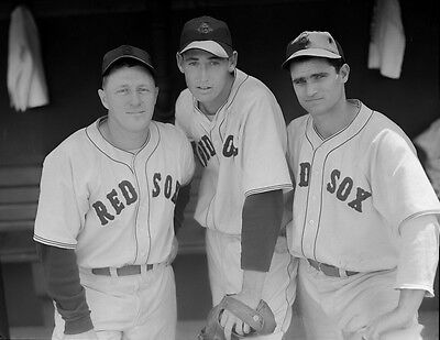 RED SOX STARS RUDY YORK AND BOBBY DOERR CLASSIC 8x10