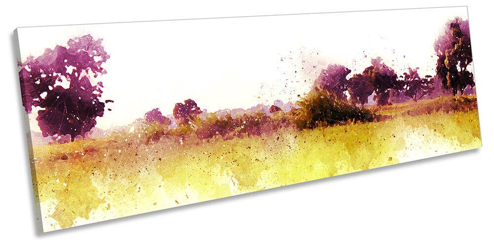 PAESAGGIO ALBERI ad acquerello incorniciato PANORAMA stampa stampa stampa art. a muro b7ef8c