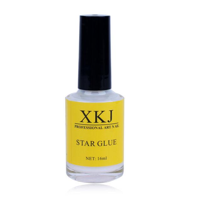1x 16 ml White Glue Adhesive For Galaxy Star Foil Sticker Nail Art Transfer Tips